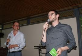 Die Moderatoren Peter Neumann (r.) und Mario Osterland (Foto: Julia Hauck)