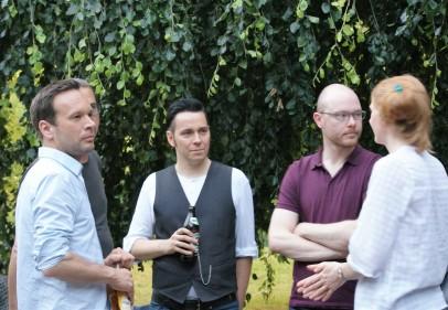 Björn Kuhligk, Tom Schulz (verdeckt), Ralf Schönfelder, Christoph Wenzel, Anja Kampmann (v.l.n.r.) (Foto: Julia Hauck)