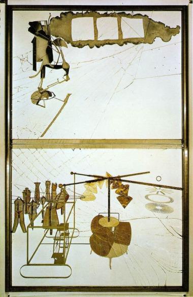 Marcel Duchamp - Die Braut von ihren Junggesellen entkleidet, sogar (1915/23)